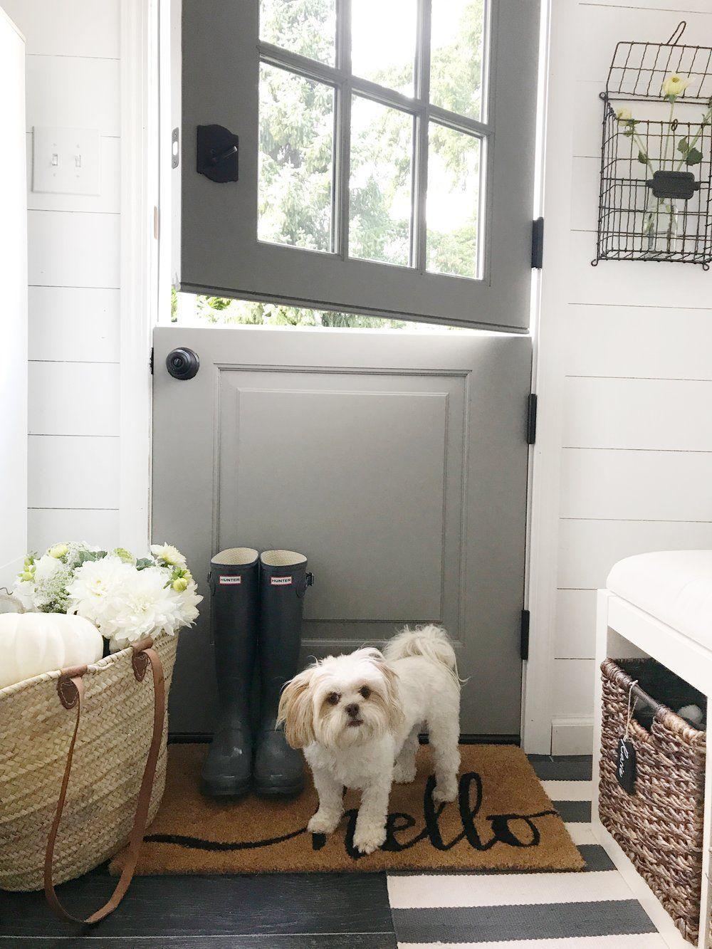 Mudroom Fall Tour Dutch door, Front door, Exterior doors