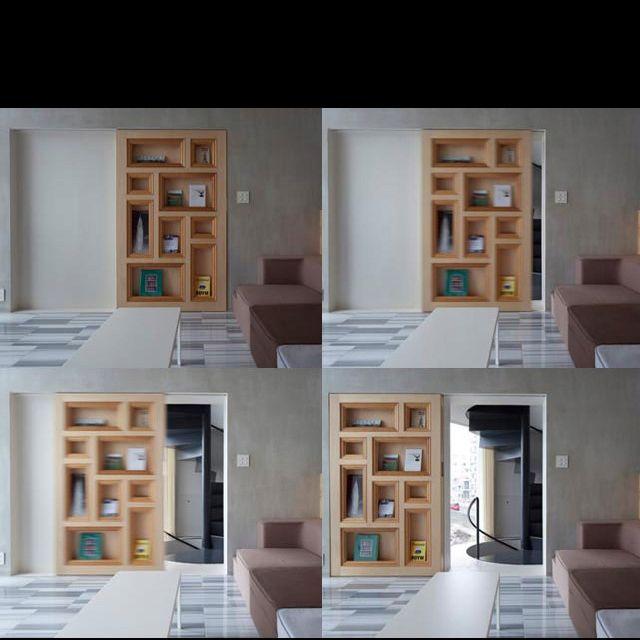 Secret Sliding Door Bookcase