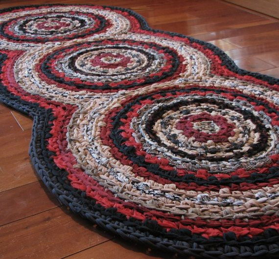 Youtube Toothbrush Rag Rug: Triple Disc Crocheted Rag Rug - Your Custom Colors
