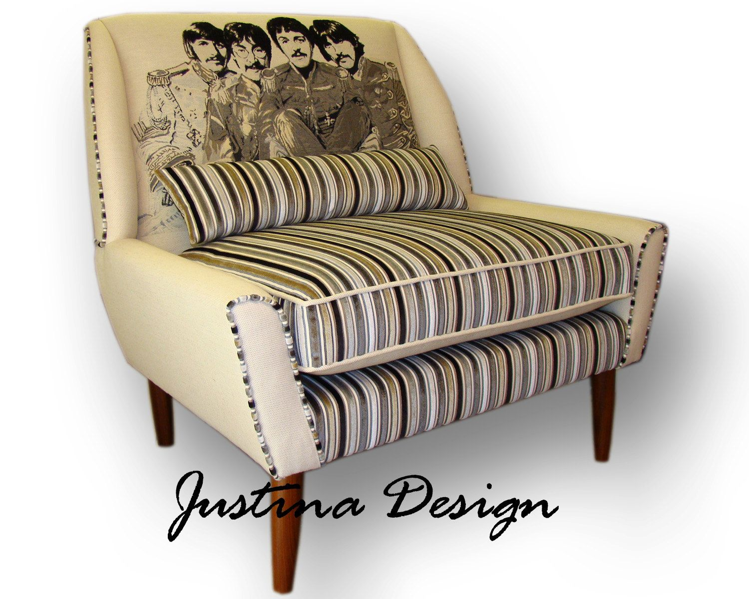 The Beatles Armchair Andrew Martin Fabrics By