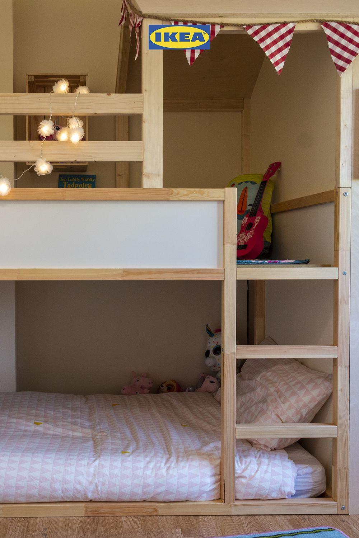 Kura Reversible Bed White Pine 90x200 Cm Ikea Ireland Tent Children Room Girl