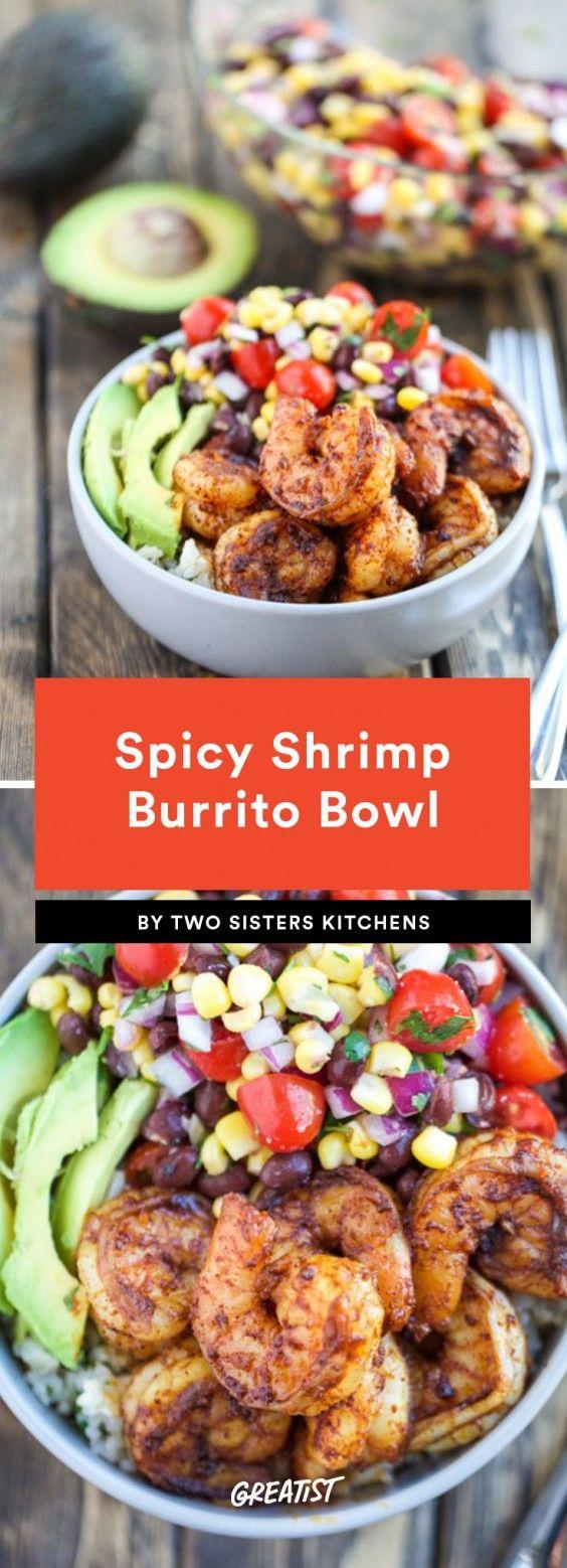 9 Burrito Bowls That Are the Food Equivalent of a Warm Hug #mexicanshrimprecipes