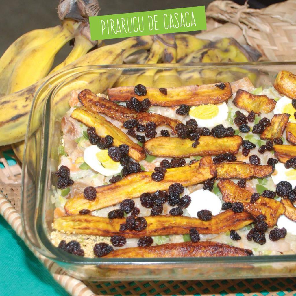 A farinha de uarini compõe pratos típicos como casquinha de caranguejo, pirarucu de casaca e farofa de jabá .