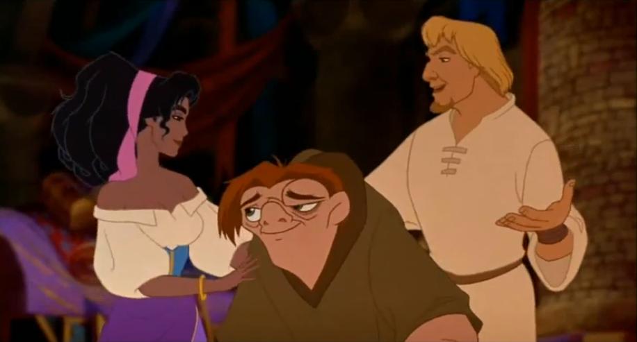 esmeralda quasimodo  phoebus the hunchback of notre