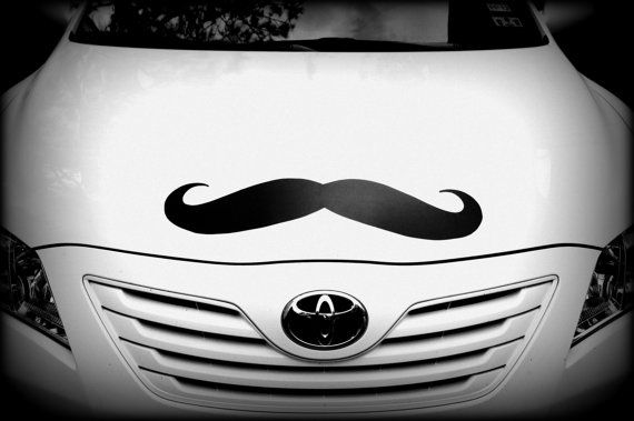 Giant Car Mustache Vinyl Decal  The Handlebar by ImSeriouslyJoking, $13.00