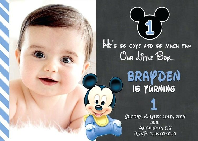 Baby Boy 1st Birthday Invitation Templates Free Card Ideas
