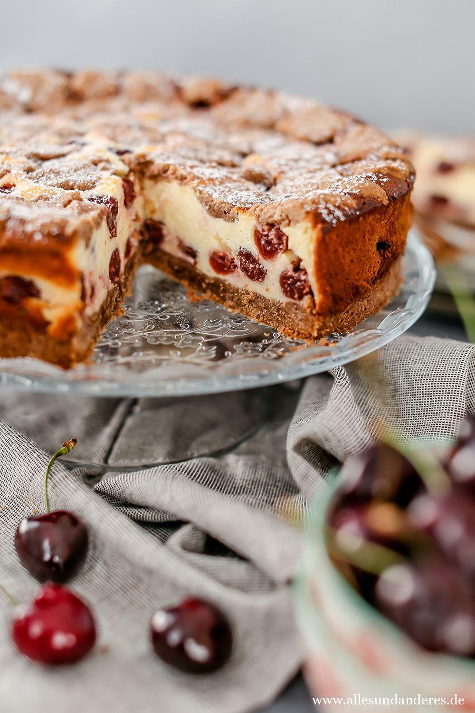 Sommerlicher Kirsch Quark Kuchen Mit Schokotupfen In 2020 Quarkkuchen Ohne Boden Kuchen Kuchen Und Torten