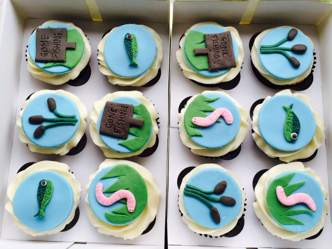 Perfect cupcakes for a Fishing Mad Boyfriend