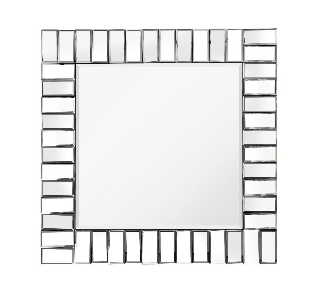 Kaleb Wall Mirror - MYCO KL919 KL919 Features:Square ShapeWall MirrorBeveled Mirror FrameMDF Back - Black FinishHooks Included Finish: Clear Mirror  Dimensions: 2 L x 32 W x 32 H   Approximate Weight: 35 lbs.