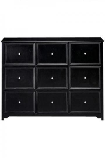 Oxford 9 Drawer File Cabinet Console Table Sideboard Storage