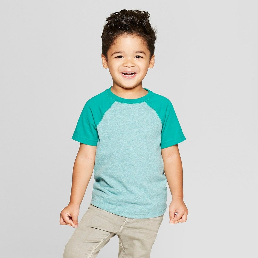 Cat /& Jack Toddler Boys/' Short Sleeve Pocket Henley Shirt Heather Gray 5T