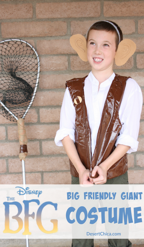 How to make a DIY Big Friendly Giant  costume from The BFG. A classic book character costume for kids or teachers to wear for love of reading week or storybook character day during spirit week at school. #halloweencostumesforadults #kid #friendly #halloween #costumes #for #adults #characterdayspiritweek