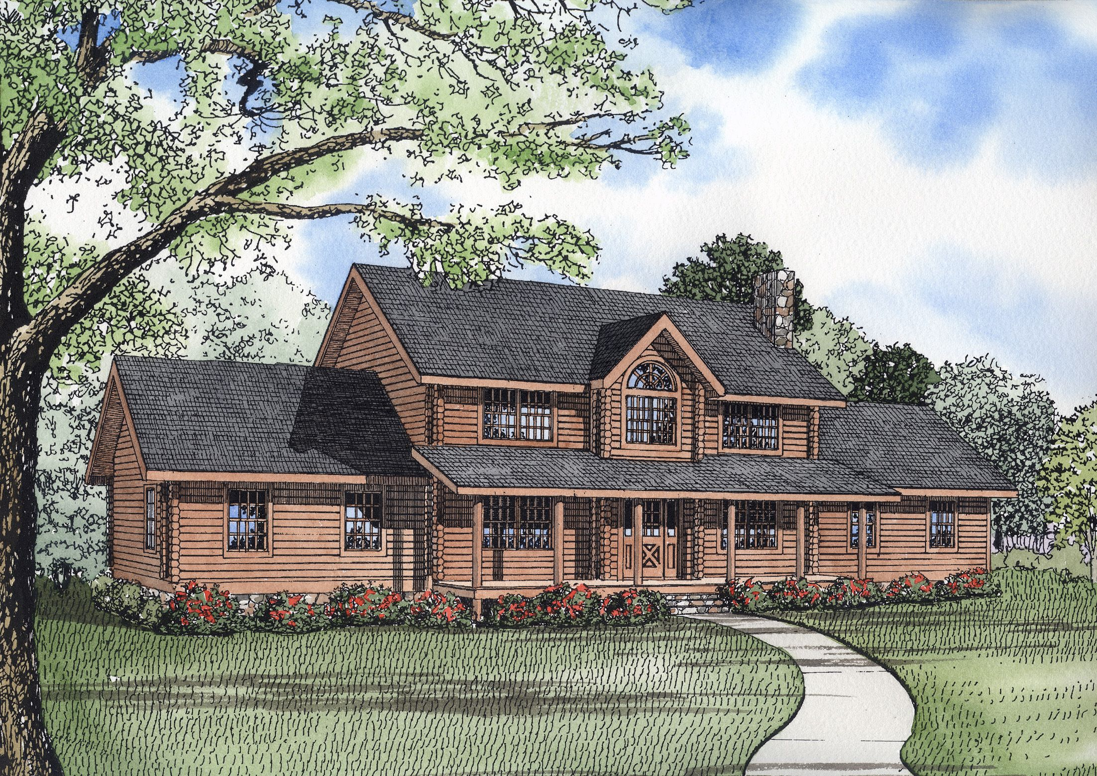 5 bedroom loft floor plans  Plan ND Truly a Family Home  Logs Corner and Extra bedroom