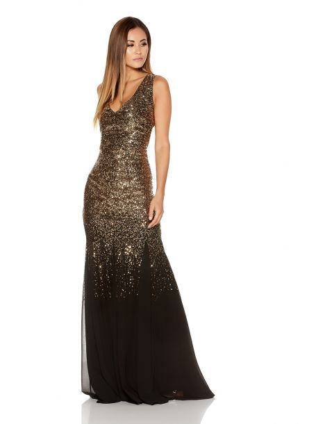 Gold and black dress uk online