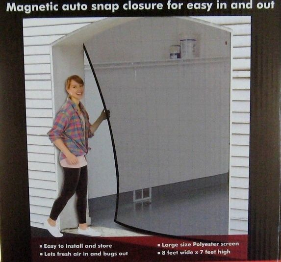 Screen Mesh Door Cover For One Car Garage Or Shop 8 Feet