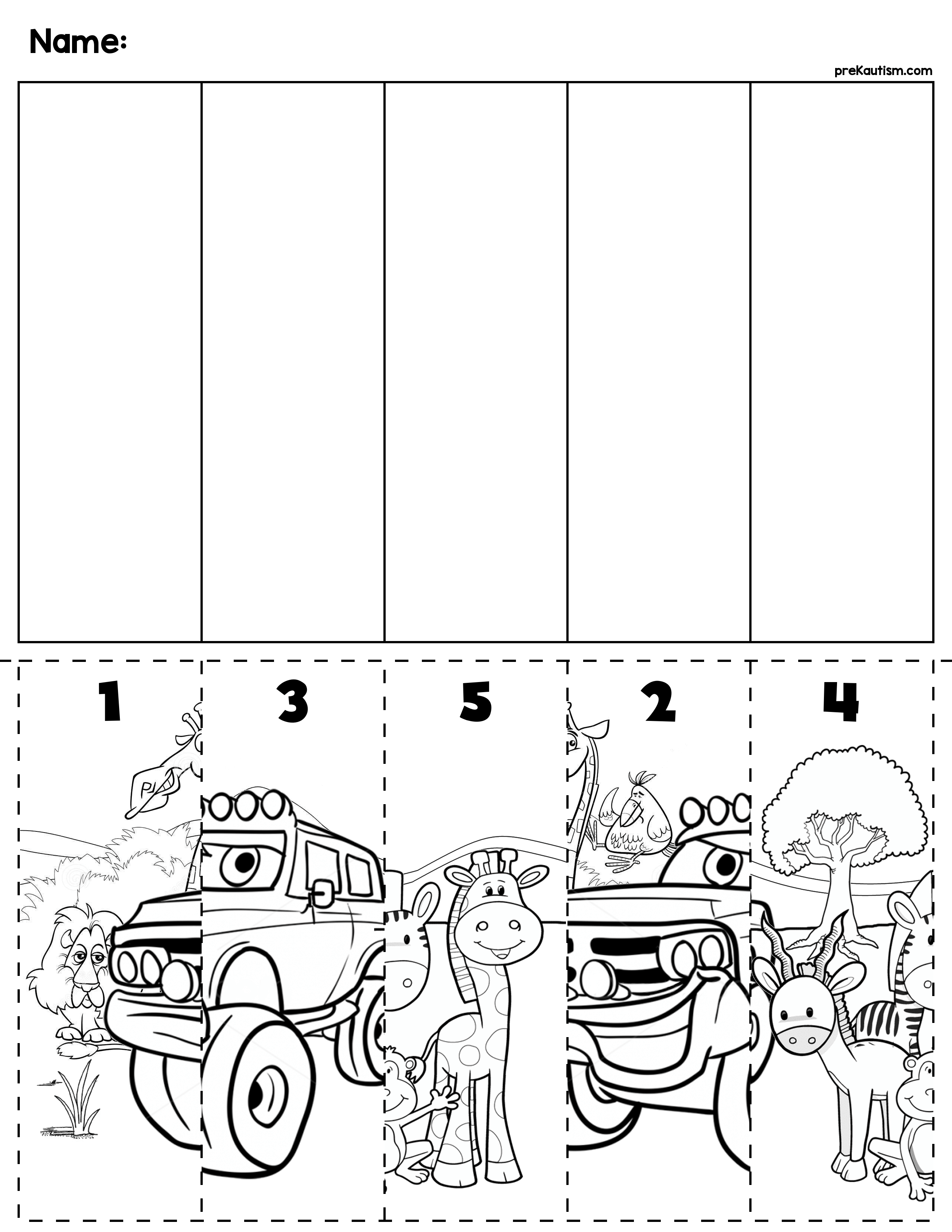 transportation number order cut paste scenes my tpt store preschool puzzles preschool. Black Bedroom Furniture Sets. Home Design Ideas