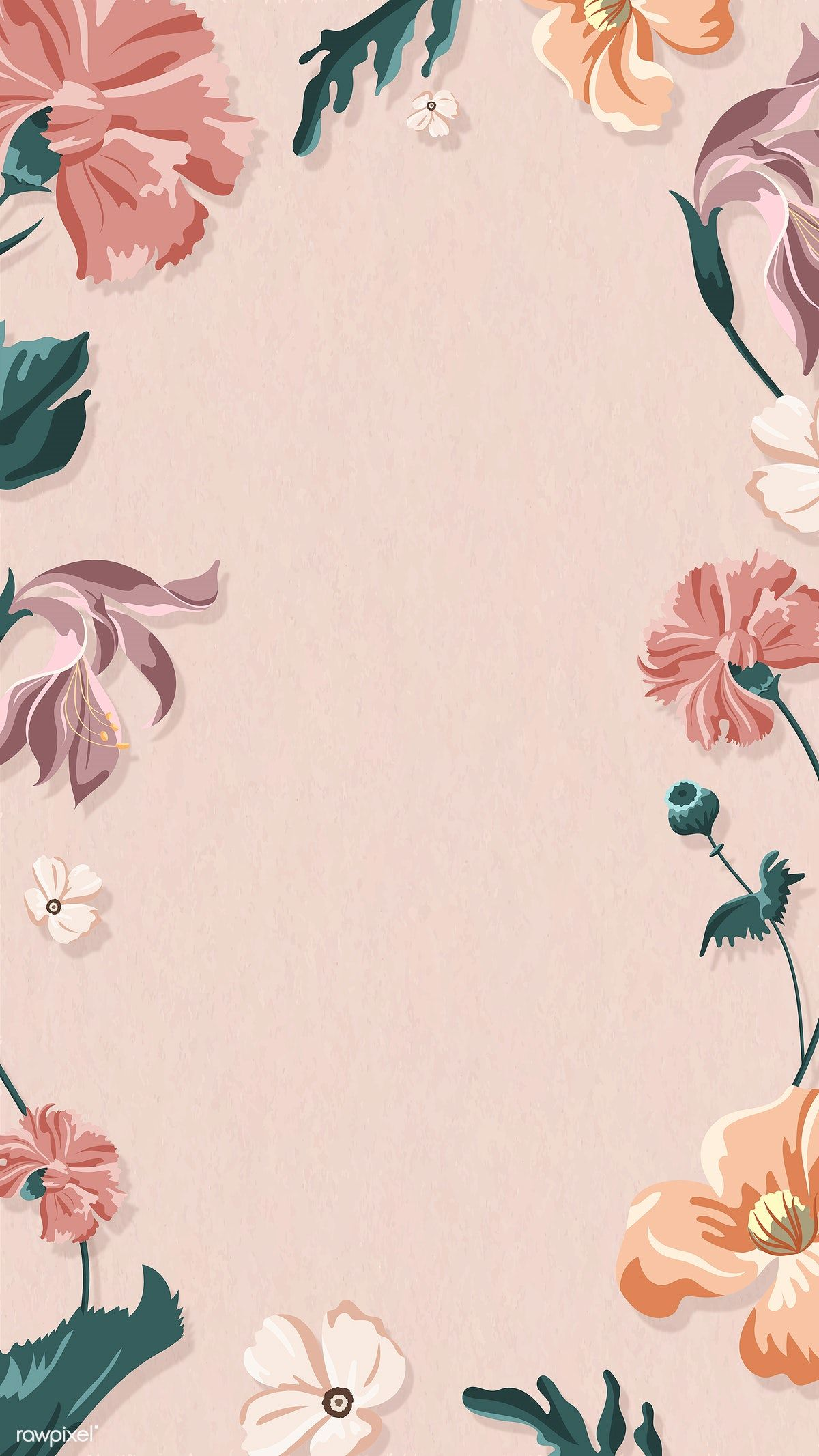 Blooming Floral Frame On A Pink Background Vector Premium Image By Rawpixel Com Pink Floral Background Gold Wallpaper Background Flower Background Wallpaper Coolest cempaka flower wallpaper