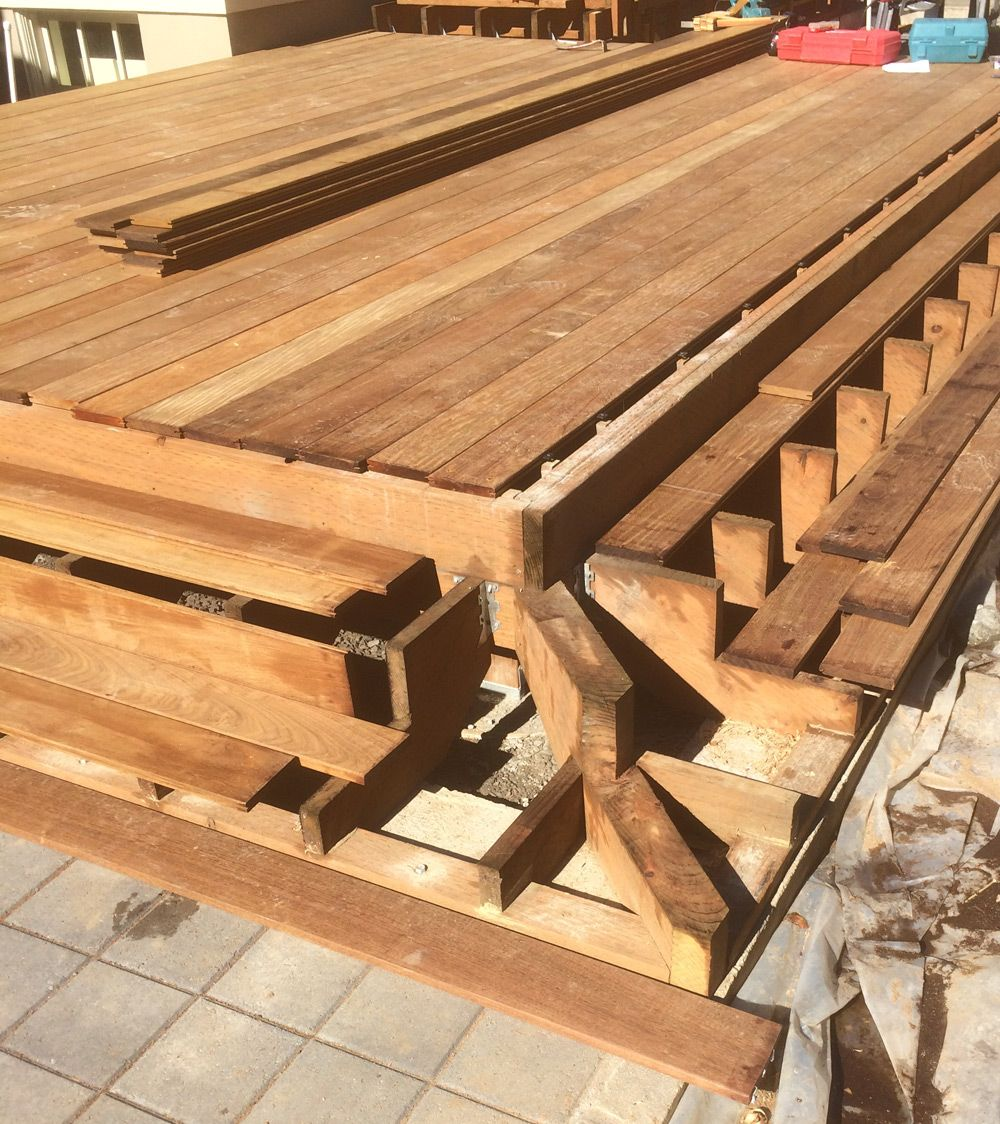 Diy Deck Plans Step By Step Small Deck Plans: Corner Deck Stair Stringer - Google Search