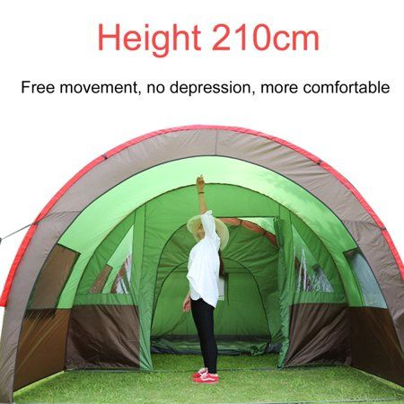 a59ea03e35 8-10 Person Family Tent Waterproof 3-Season Tent For Outdoor Camping Garden  Fishing Beach Outdoor