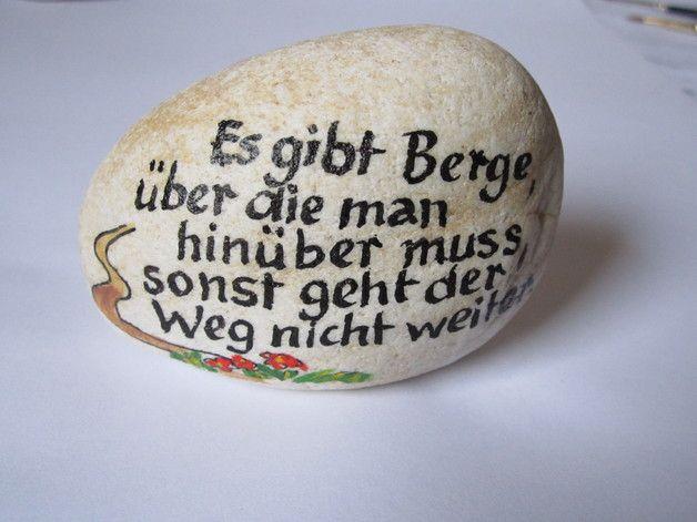 Weiteres - Steine beschriftet - ein Designerstück von Popp-Birgit bei DaWanda #bemaltesteine