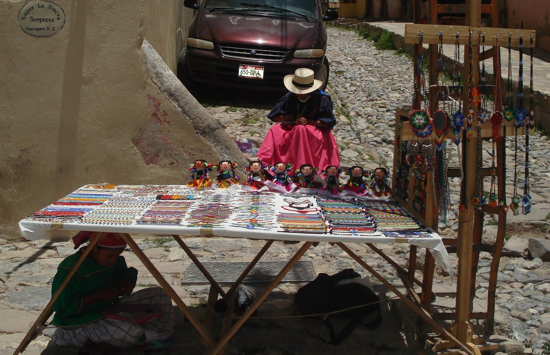 Artisan an vendor in Real de Catorce