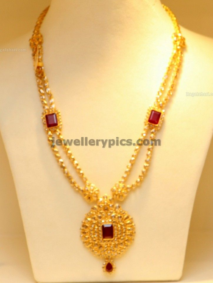 Latest Gold Haram designs 2013 in Hyderabad ~ Jewellery Designs ...