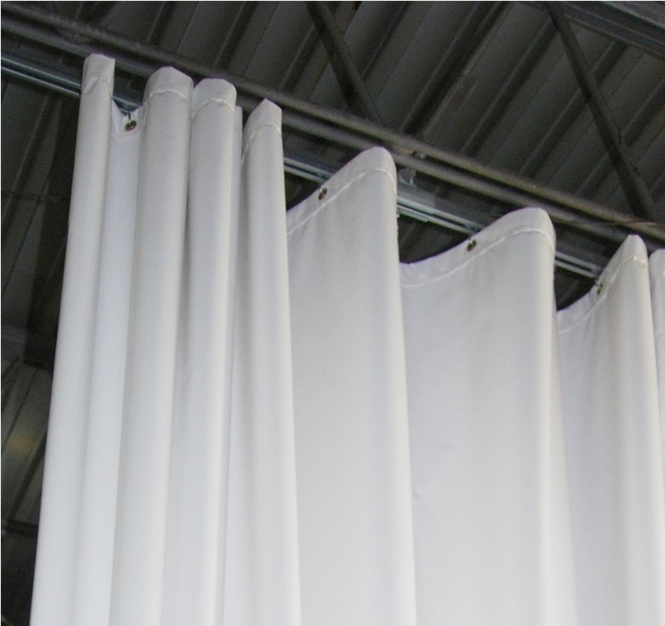 Image result for white acoustical curtain