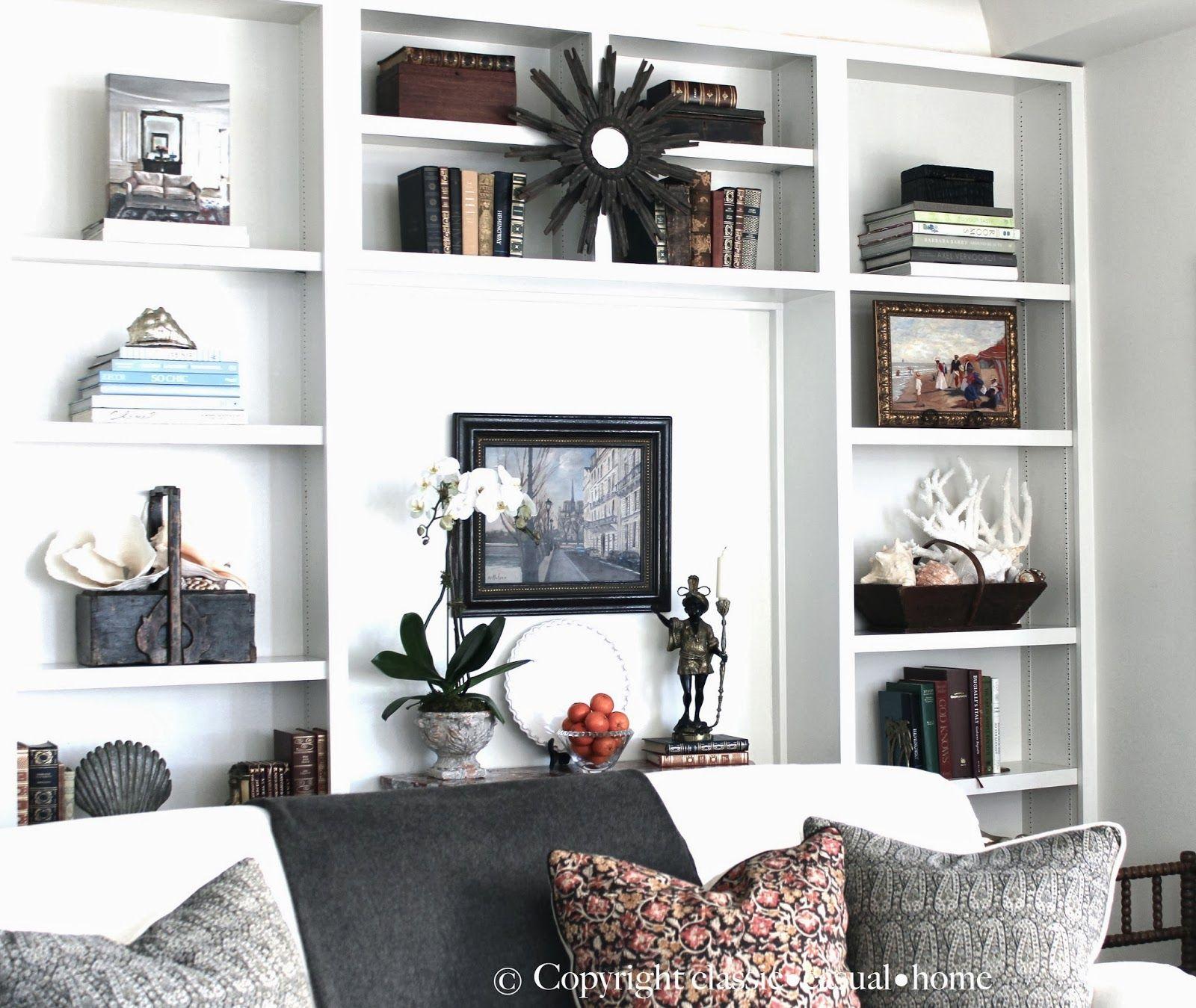 Our Living Room Shelves | Shelves, Living rooms and Shelving decor