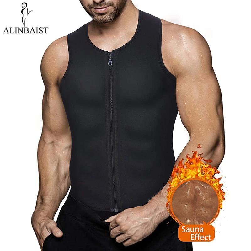 Men Waist Trainer Vest for Weight Loss Sauna Hot Neoprene Body Shaper Tank Top