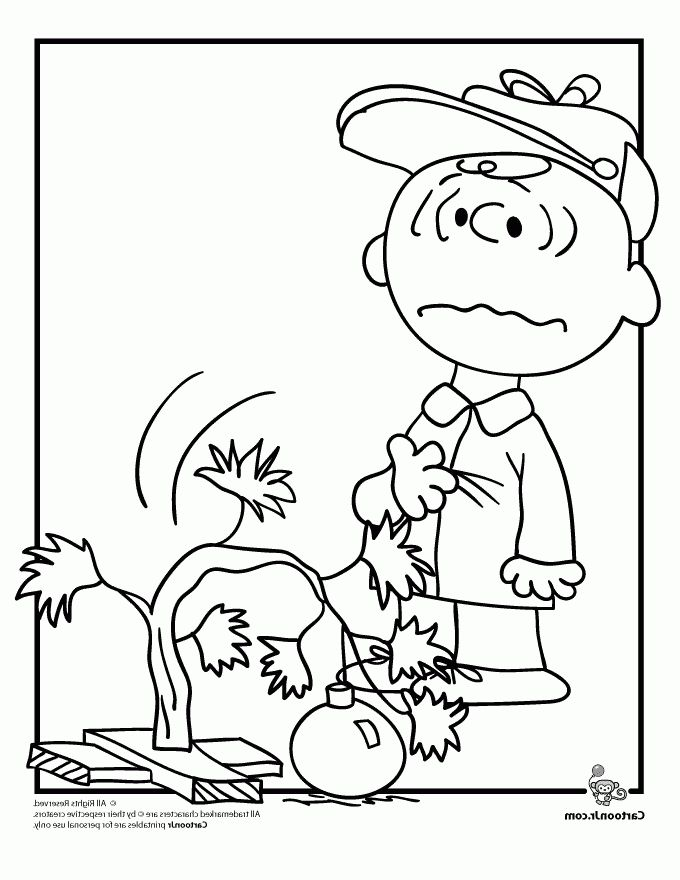 A Charlie Brown Christmas Coloring Pages Woo Jr Kids Activities ...