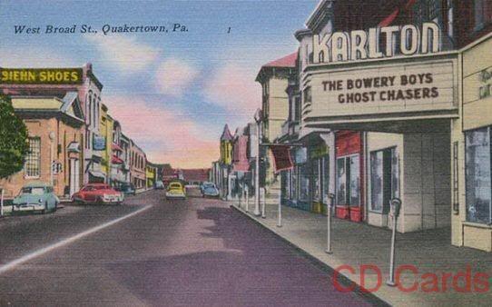 Broad Street Quakertown Pennsylvania 1950 S Quakertown The