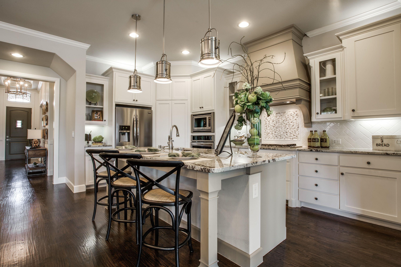 Beautiful kitchen decor! White cabinets, hardwood floors ...