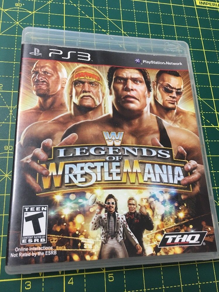 WWE LEGENDS OF WRESTLEMANIA Sony PlayStation 3 COMPLETE