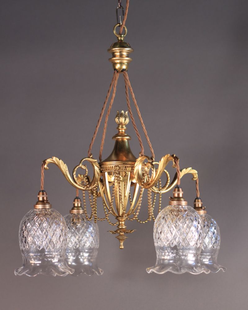 Antique gilt chandelier attr to f c osler was 1800 now 1440 f antique gilt chandelier attr to f c osler arubaitofo Gallery