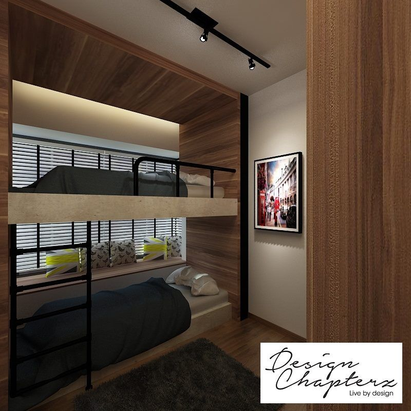 Condo Interior Design Condominium Interior Design Singapore: Design Chapters Scandustrial Two Floor Bed