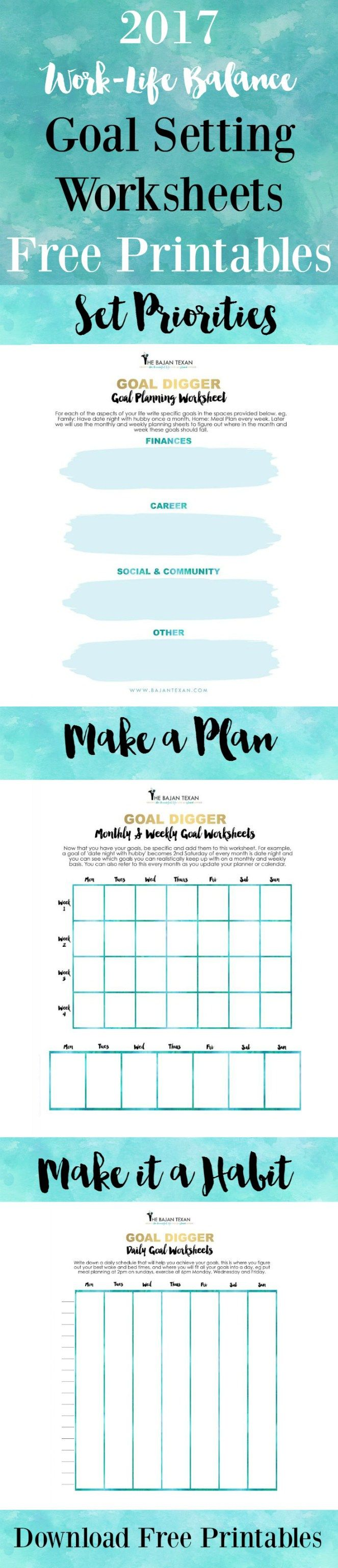 Free Goal Planning Worksheets for the New Year | Pinterest ...