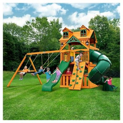 Gorilla Playsets Malibu Extreme Clubhouse Swing Set With Amber