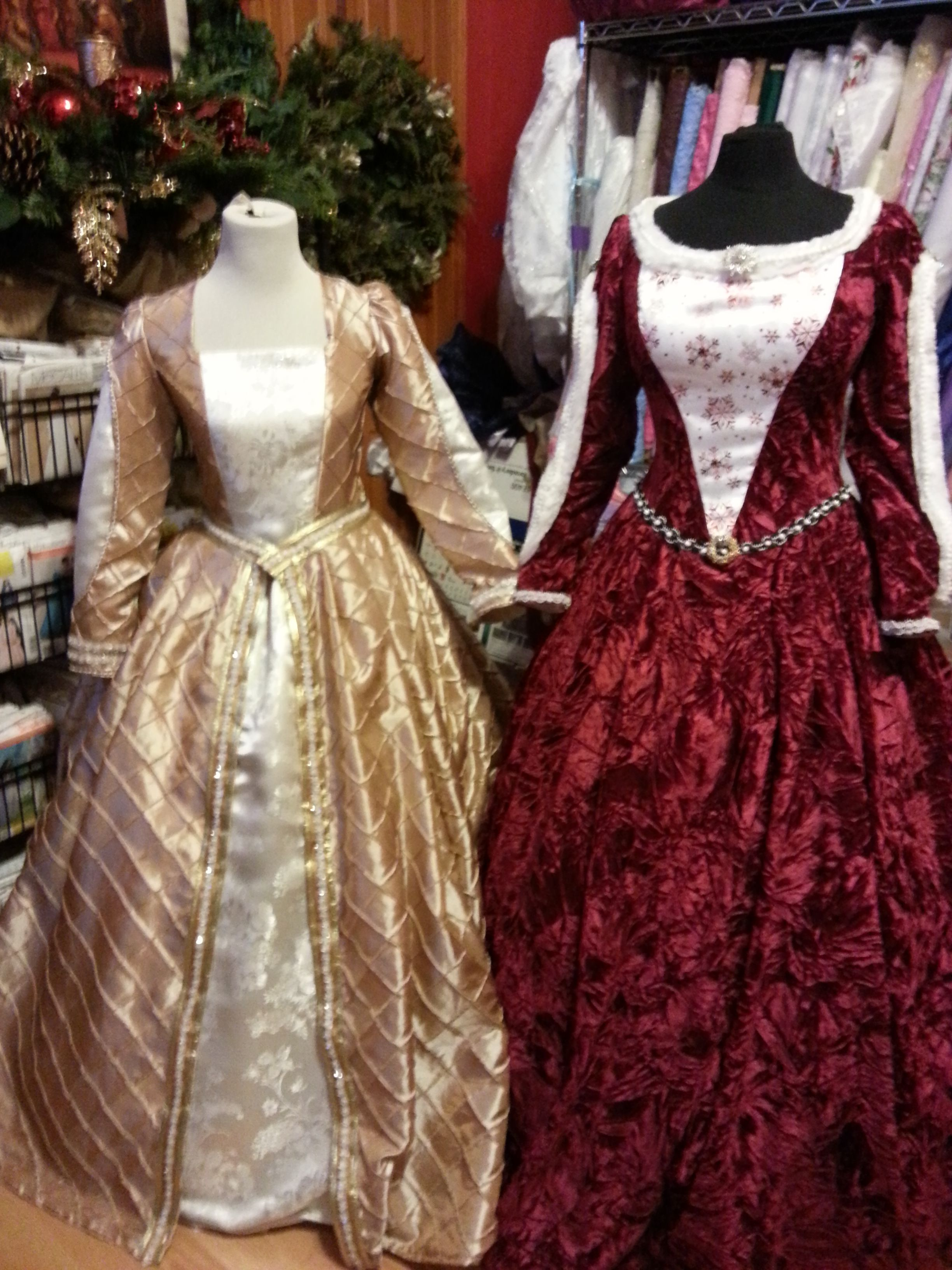 Mrs Claus red velvet Christmas Renaissance gown and Gold and ...