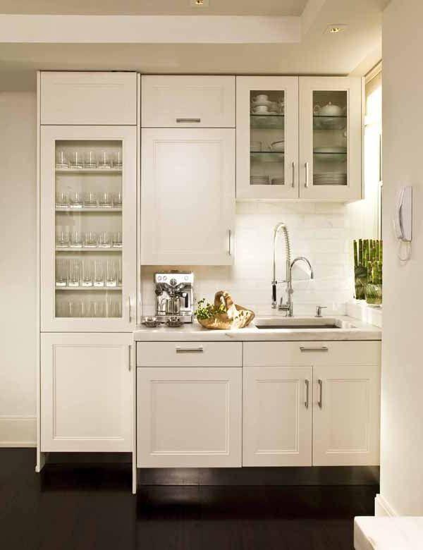 Comment amenager une petite cuisine petites cuisines - Petite cuisine blanche ...
