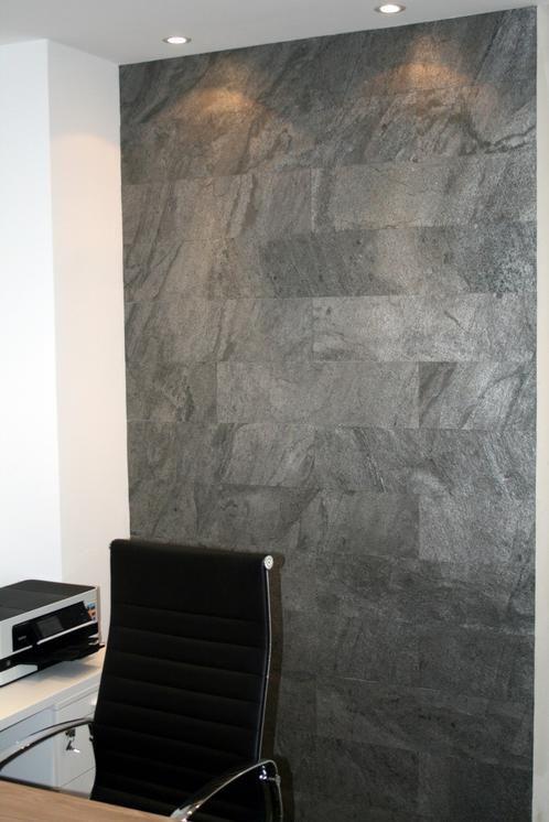 SAMPLE Thin Flexible Natural Stone Veneer Sheet Black Slate