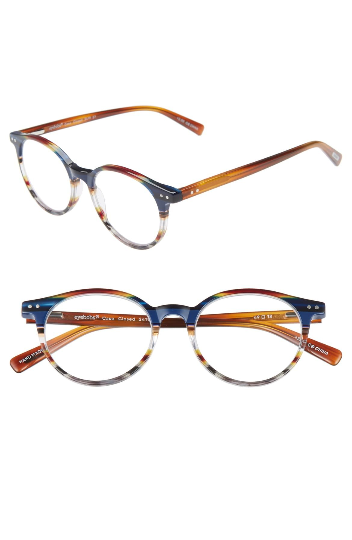 319df11cf446 eyebobs Case Closed 49mm Round Reading Glasses   Nordstrom   specs ...