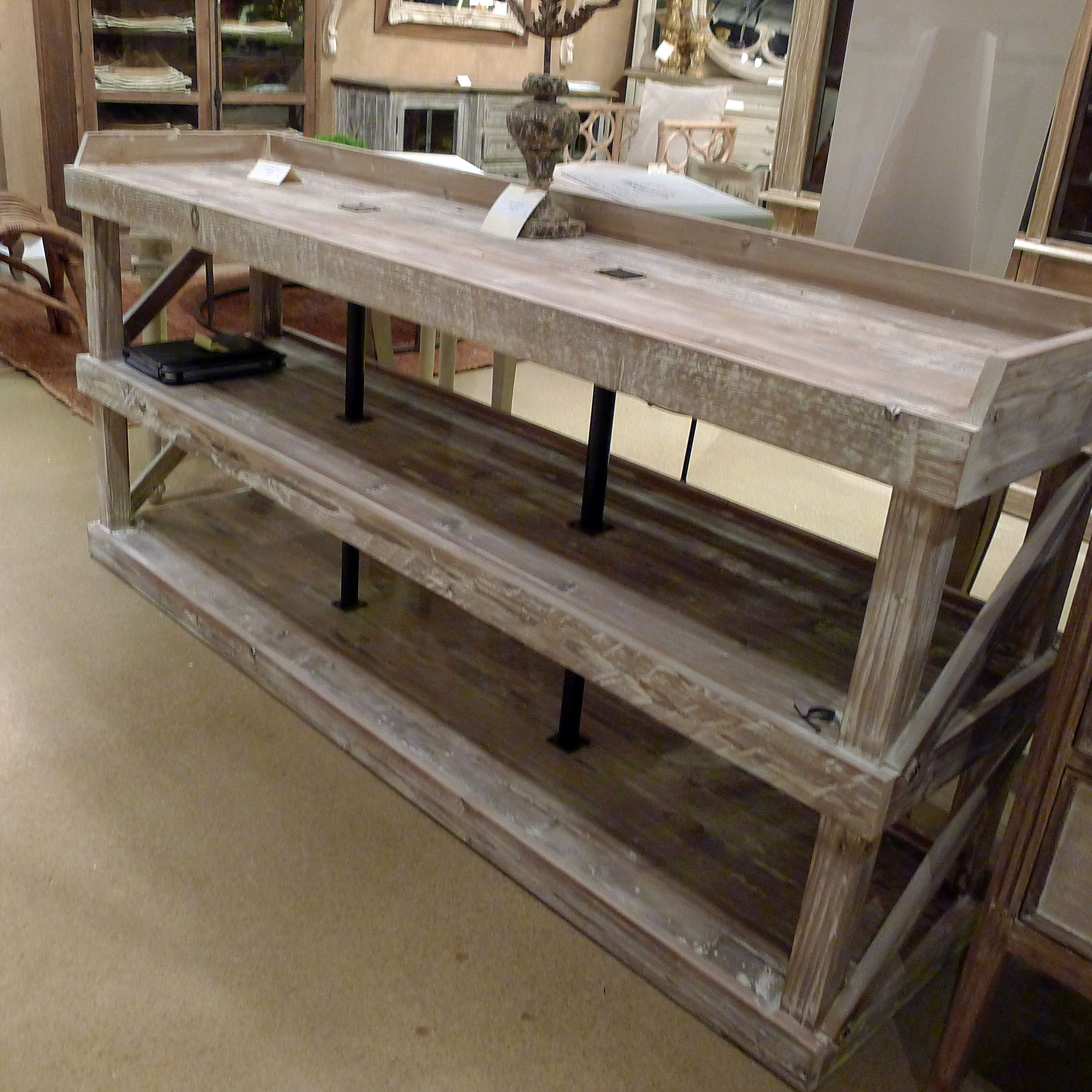 Rustic White Washed Shelving By Gabby