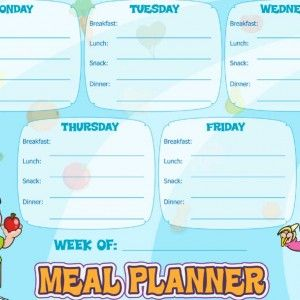 weekly meal plan chart