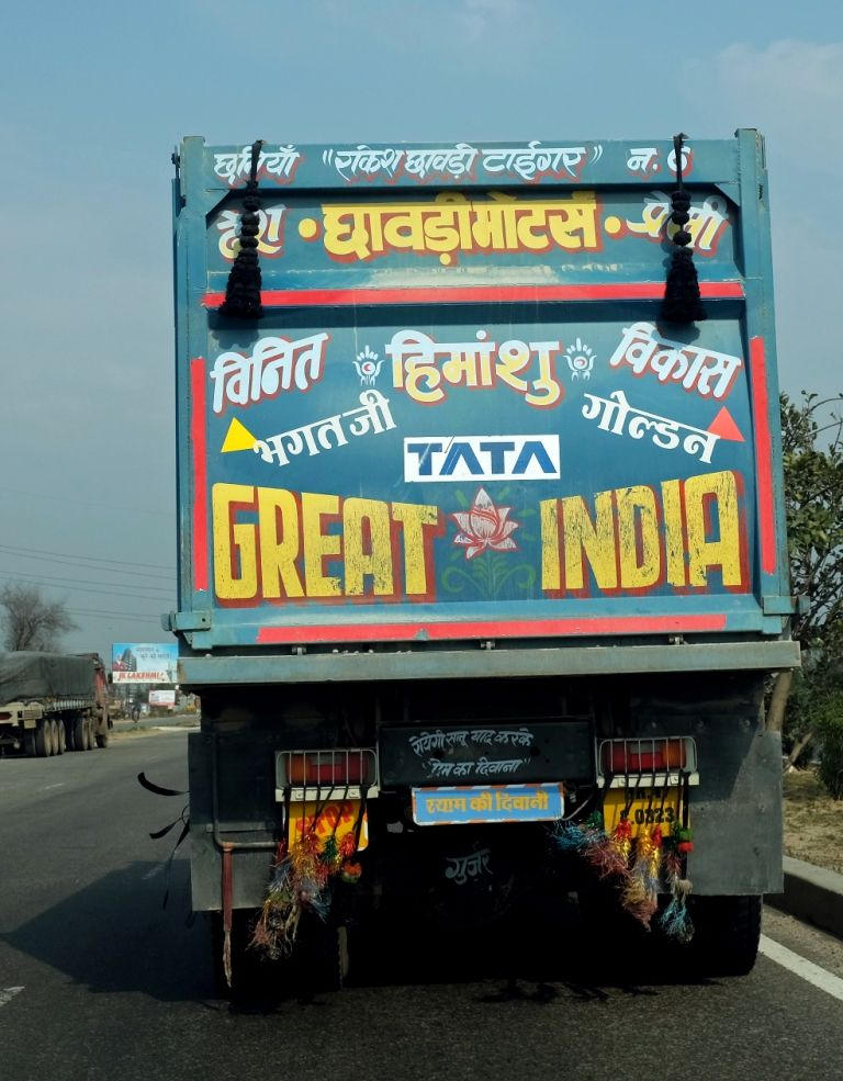 A Decorated Indian Truck With Images Travel Companies Luxury