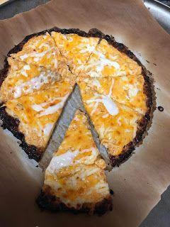 Cheesebun crust leftover buffalo chicken dip pizza | Easy Keto Recipes