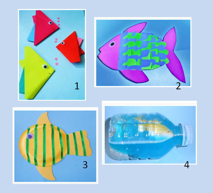 Ocean animal art project fun fish arts and crafts for Fishing stuff for kids