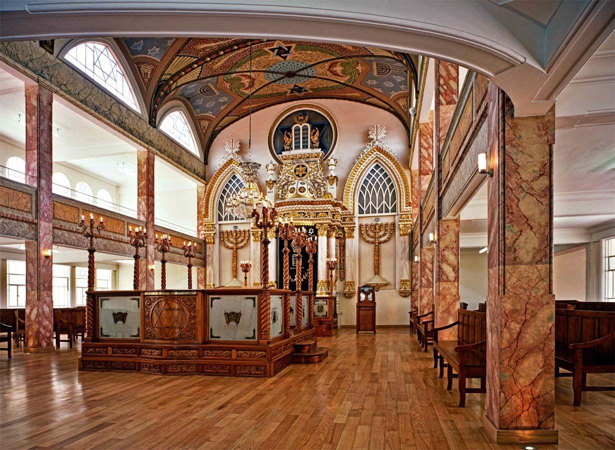 La sinagoga Monte Sinai en Justo Sierra, México DF.