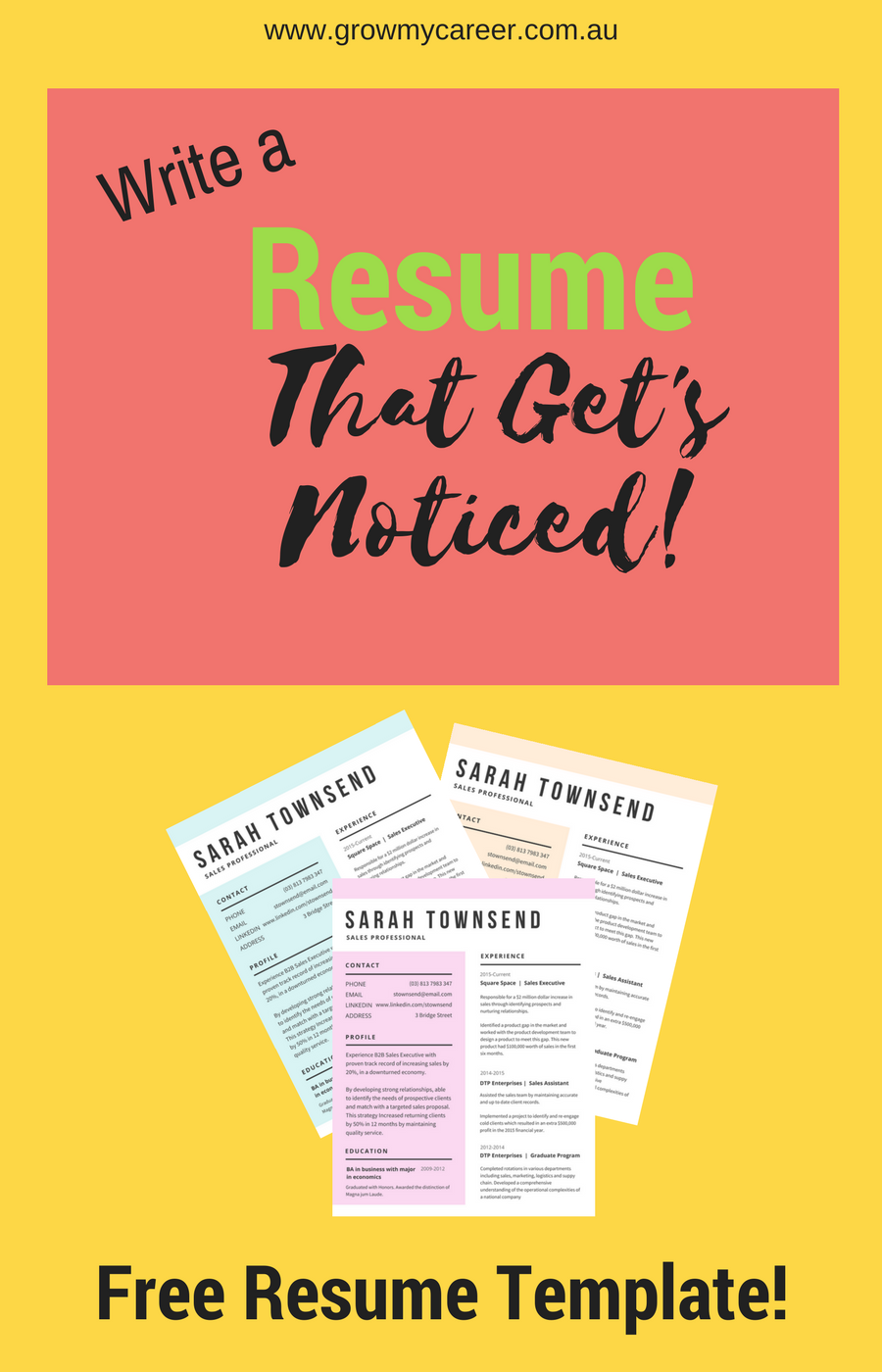 Free Resume Template Get A Job Interview With This Professional