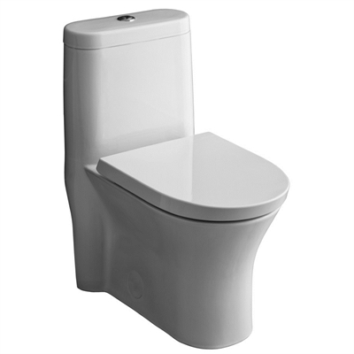 American Standard Cosette White Watersense 1 Piece Dual Flush Standard Height Elongated Toilet 1 28 Gpf Water Sense American Standard Bathroom Toilets