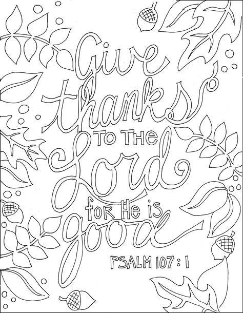 ps 107 1 and many other printable bible verse coloring pages